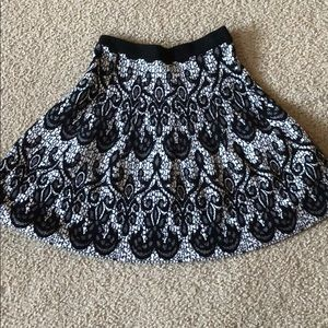 Cynthia Rowley black/white print skirt